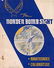 1943 Norden Bombsight M Series Maintenance/Calibration Book Flight Manual  -CD-
