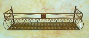 2x 100cm Wand-Blumenkasten Eisen Balkonkasten 0946427m-a | eBay