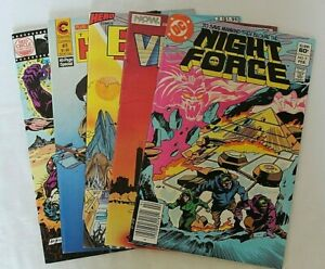 LOT OF 5 COMICS: ETERNITY SMITH, THE NEW HUMANS, SHIELD, NIGHTFORCE & VECTOR