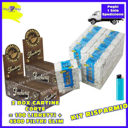 4500 filtri RIZLA SLIM 6mm 3 BOX 6000 Cartine SMOKING BROWN senza cloro 2 BOX