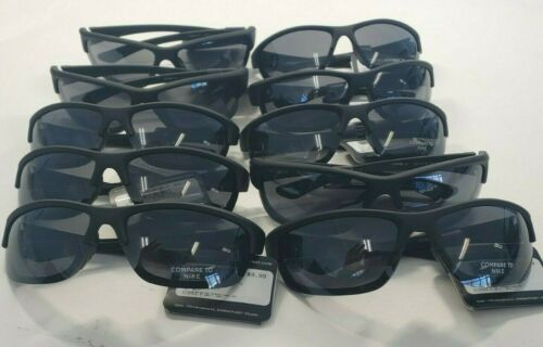 Wholesale Lot of 10 pairs Designer Inspired Sunglasses Black Wrap  New