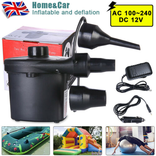 UK Car Portable MINI Electric Air Pump For Playing Water Cushion Bed Boat Small