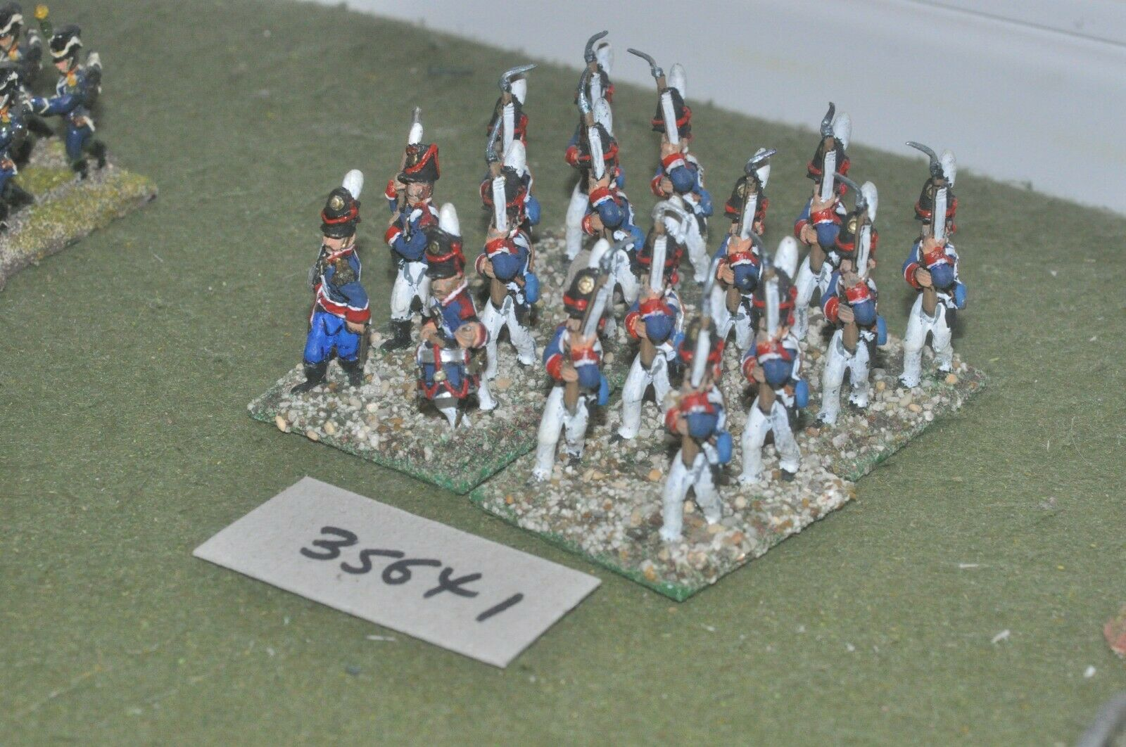 25mm napoleonic   portugese - line 16 figures - inf (35641)