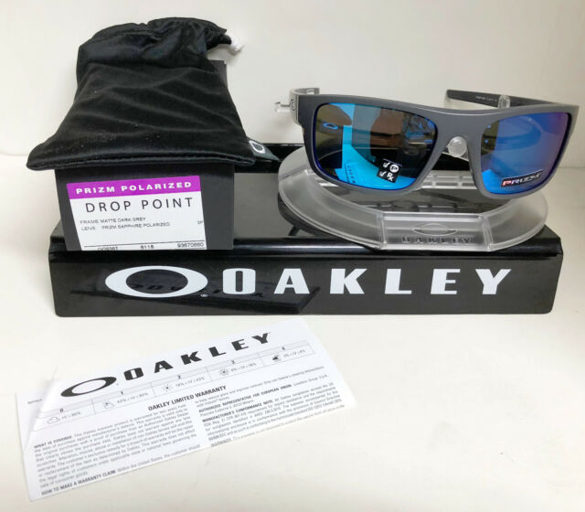Oakley Drop Point >> Oakley Oo9367 Drop Point 936706 Matte Dark Grey Size 60 For Sale