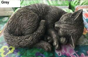 Sleeping-Cat-Kitten-Concrete-Statue-cute-garden-ornament-Memorial-statue