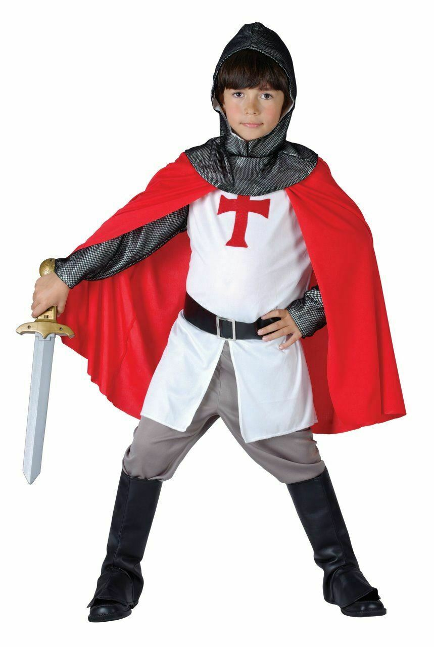 Mystic Templar Boys Kids Halloween Tudor Gothic Warlord Fancy Dress Costume