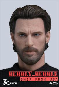 1/6 Chris Evans Captain America Head Sculpt pour TBLeague Hot Toys figure U.S.A. Jouets et jeux