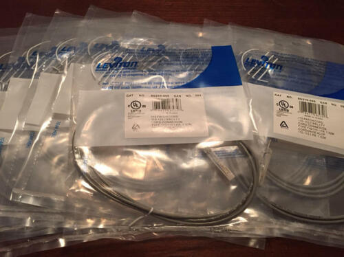 Lot of 10 Leviton GigaMax 5e 110-Style Patch Cord 1 Pair Plug 5ft NEW FREE SHIP