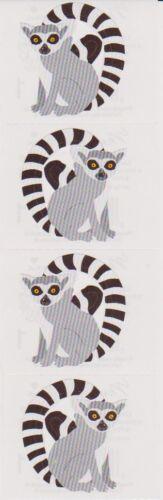 Mrs Lively Lemurs 4 Strips Grossman/'s Stickers