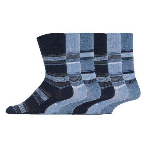 Mens Socks Gentle Grip HoneyComb Top Strengthened Heel /&Toe in 3 6 12 Pairs Blue