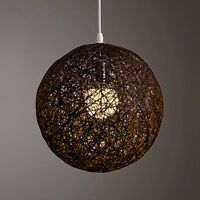 Natural Abaca Rattan Ball Pendant Light Shade Chandelier Light Fitting Lampshade