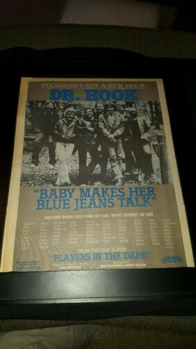 Dr. Hook Baby Makes Her Blue Jeans Talk Rare Radio Promo Poster Ad Framed!