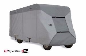 S2-Expedition-Premium-Class-C-RV-Cover-fits-29-039-30-039-Length-GRAY