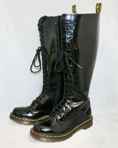 DOC MARTENS Knee High 20 Eye Lace Up Zip Boot 1227