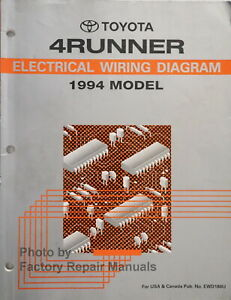 1994 Toyota 4Runner Electrical Wiring Diagrams Original Factory Manual |  eBayeBay