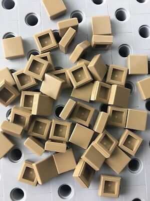 Lego Grey Flat Tiles 1x1 Light Gray Square Smooth Finish Buildings Roof 25pcs