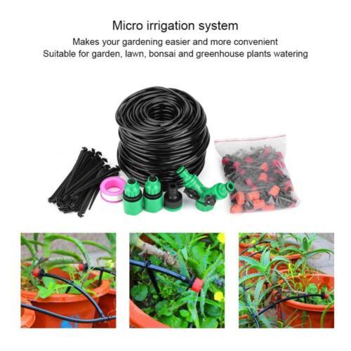 Gocciolatori Kit Per Giardino Impianto Irrigazione a Goccia Tubo Connettore