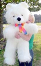 American Made Giant Teddy Bear 45 Inch Soft White Big Plush Stuffed Animal Made