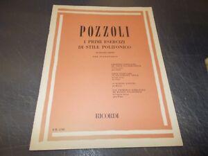 SPARTITO-MUSICALE-POZZOLI-PRIMI-ESERCIZI-STILE-POLIFONICO-PER-PIANOFORTE-RICORDI