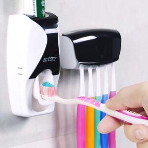Distributeur-En-Plastique-Automatique-De-Dentifrice-Range-Porte-5-Brosse-A-Dents