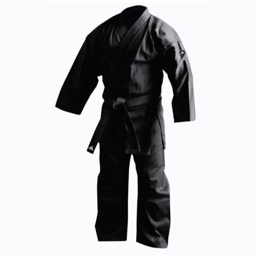 New adidas BLACK Karate Training Gi Uniform Karate Gi Set All sizes-No stripes