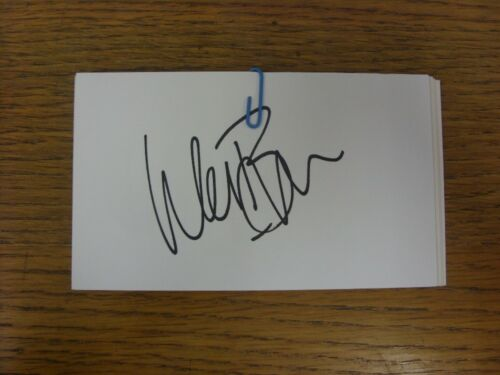 Wes 1970-2000/'s Autographed White Card: Manchester United Brown Hand Signed