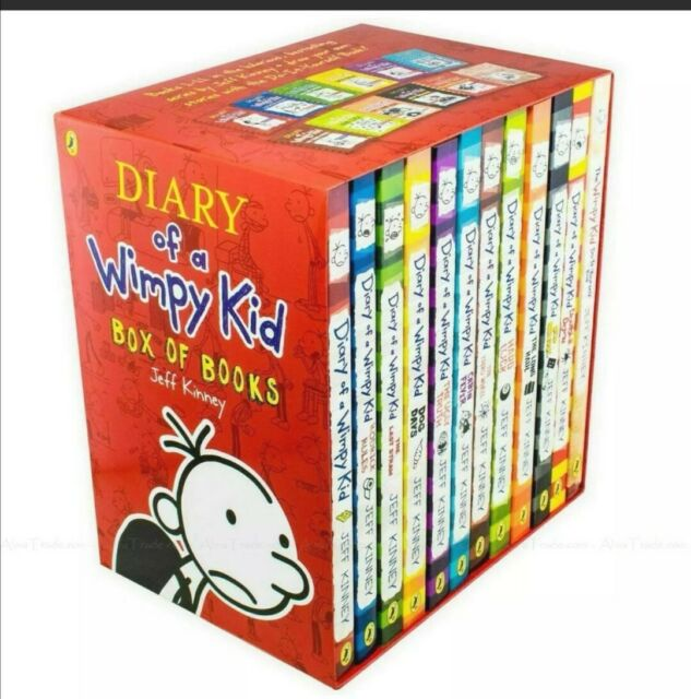 Diary of a Wimpy Kid Box of 12 Books by Jeff Kinney (2018, Paperback)