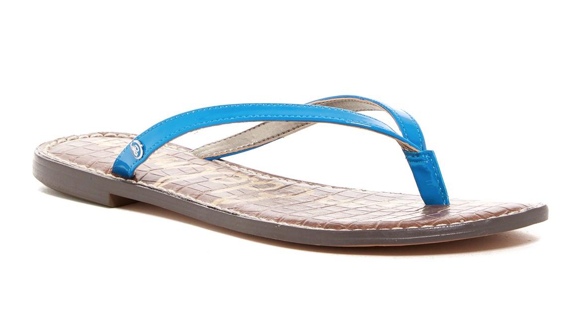 Sam Edelman Gracie Mujer Sandalia de de de piel azul Aquarian Talla 9.5 M 2955  mejor moda