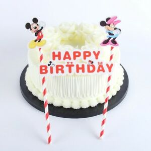 Stupendous Minnie And Mickey Mouse Cake Ice Cream Topper Kids Birthday Party Personalised Birthday Cards Bromeletsinfo