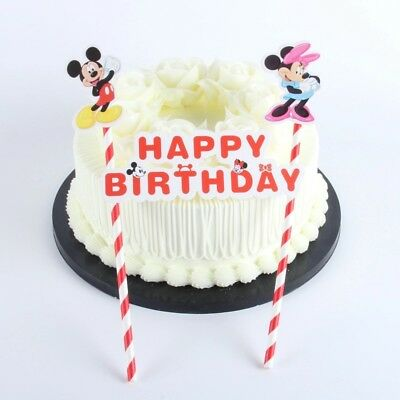 Magnificent Minnie And Mickey Mouse Cake Ice Cream Topper Kids Birthday Party Funny Birthday Cards Online Alyptdamsfinfo