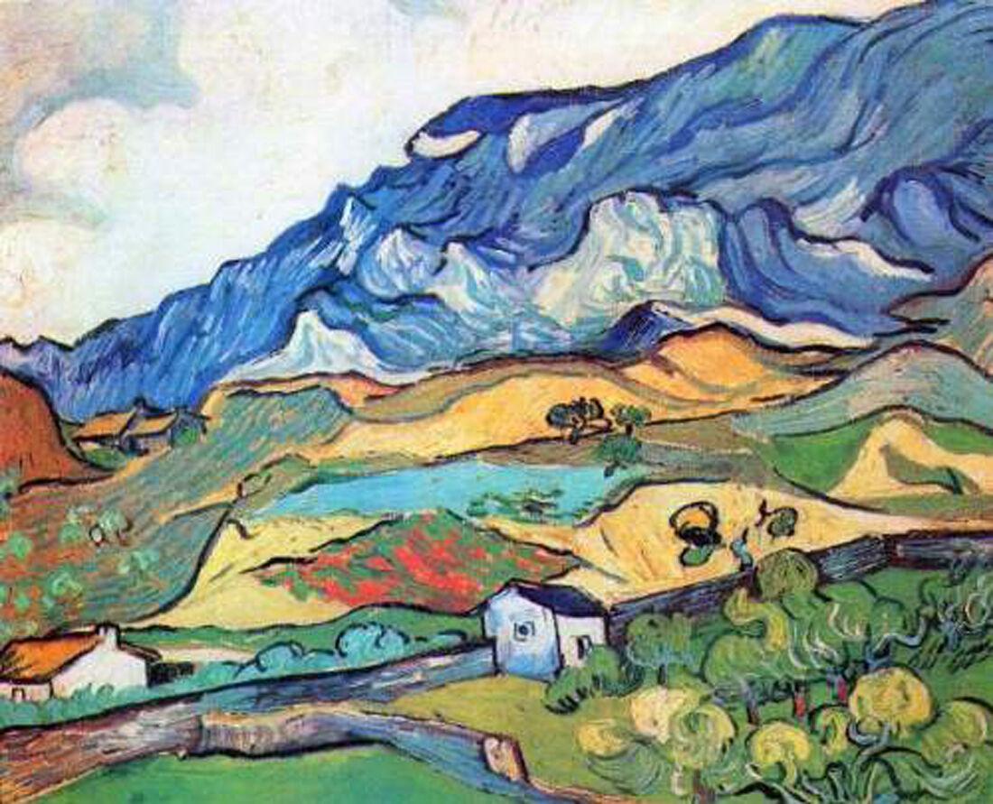 Vincent Van Gogh- Les Alpilles, near St. Remy - 20 x26  Art on Canvas