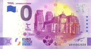 54 TOUL Cathédrale Saint-Etienne, 2021, Anniversaire, Billet Euro Souvenir