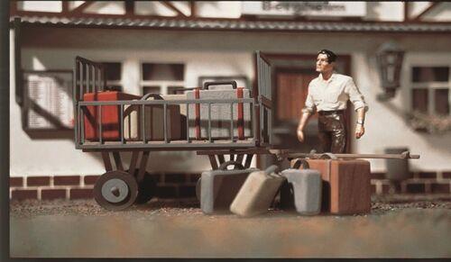 41228 VOLLMER G 1228 carrello bagagli con bagagli Nuovo//Scatola Originale
