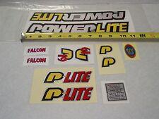 NOS VINTAGE 1998 POWERLITE P19 FALCON STICKER SET 023689 BMX FREESTYLE RACING