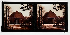 Exposition-coloniale-Paris-1931-Palais-Togo-Cameroun-Photo-Plaque-Stereo