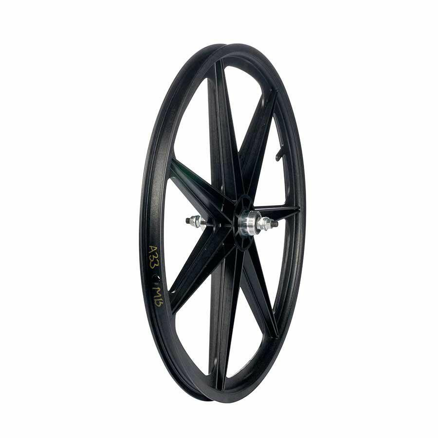 Skyway Tuff II front wheel 24X1.75  3 8  nutted 7 Spk Bk