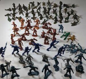 Vintage-Marx-Tim-Mee-Lido-Fuerte-Apache-Militar-Soldados-pilotos-and-more-lot