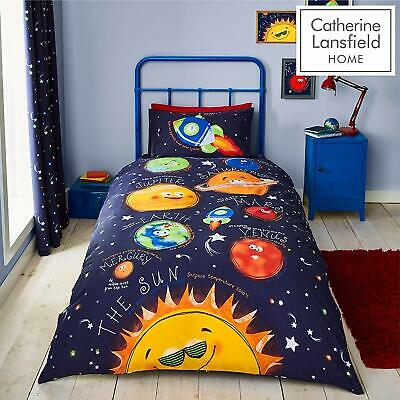 Catherine Lansfield Dino Easy Care Single Duvet Set and Pillow Case