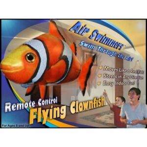Air-Swimmers-NEW-RC-Remote-Control-Flying-CLOWNFISH-Toy-Kids-Gift-Inflatable