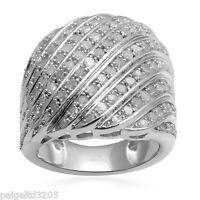 2cttw Round Rhodiium Over Brass Men's Diamond Ring Size 7
