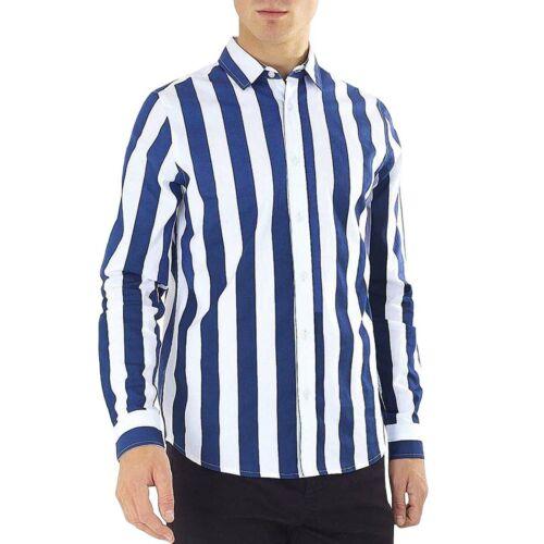 Brave Soul Herren Norris Smart Langärmlig Knöpfe Regular Fit Hemd