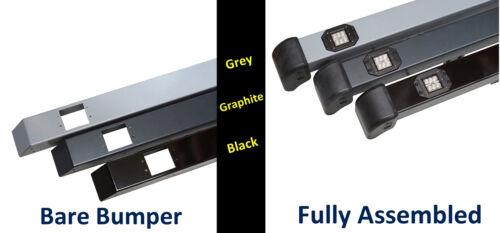 Black Front BUMPER LED DRL Land Rover Defender SVX daytime running light 90 110