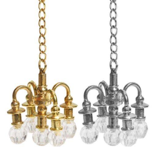 Casa Delle Bambole Mobili in Miniatura 1:12 Accessori Lampada Fj