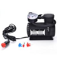 12V Portable Mini Air Compressor 300 PSI Bike Car Tyre Inflator Pump ITBM