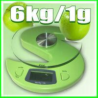 G&g 6000g/1g Küchenwaage Briefwaage Digital-waage Ks-grün