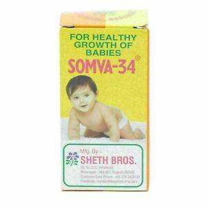 25g Sheth Bros SOMVA-34, Healthy Growth Of Babies + Worldwide