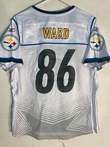 6f8a81d14 Reebok Women s NFL Jersey Pittsburgh Steelers Hines Ward White Super ...