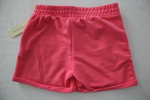 NEW Girls Pull On Shorts Large 10-12 Pockets Pink Lace Soft Summer Casual