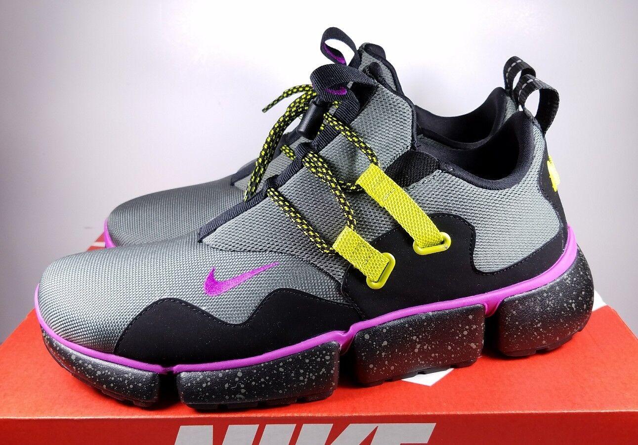 Nike Size 9.5 Running Shoe Pocket Knife DM SU River Rock Violet AH9709-001 Uomo