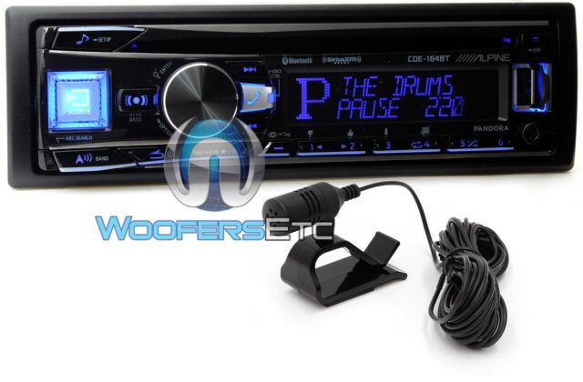 ALPINE CDE-164BT CD USB MP3 WMA AUX IPOD IPHONE EQUALIZER EQ BLUETOOTH RADIO NEW